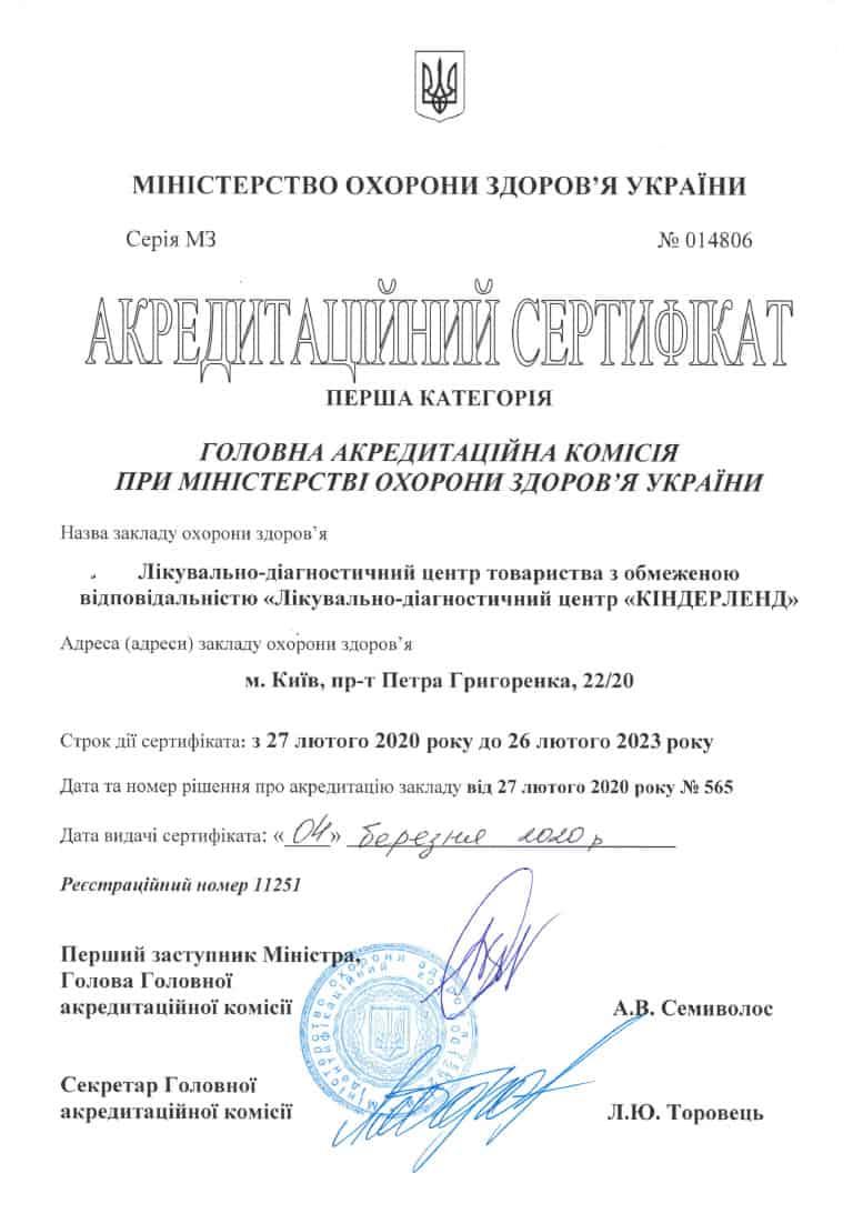 Акредитаційний сертифікат